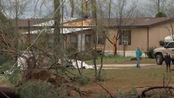 Verwüstung: Bilder aus den betroffenen Gebieten in Alabama und Georgia.