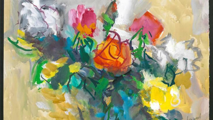 «Der bunte Blumenstrauss» ist eines der letzten Bilder von Hermann Anselment, die inventarisiert wurden. Es stammt von 1977. Alle Fotos zVg