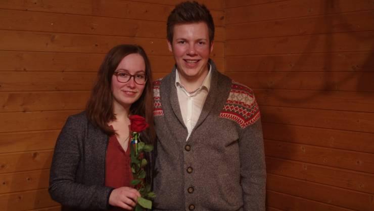 Julia Baumgartner (20, Füllinsdorf) und Joël Bühler (19, Liestal)