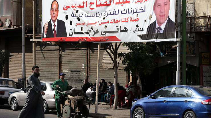 Wahlen im März: Unterstützer von Ägyptens Präsident Abdel Fattah al-Sisi haben bereits mit dem Wahlkampf begonnen. (Symbolbild)