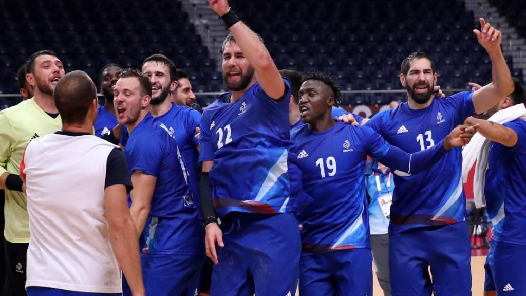 Frankreichs Handballer bejubeln einen weiteren grossen Erfolg