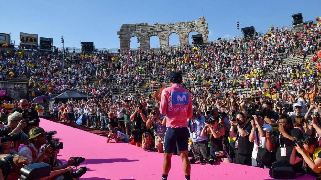 Carapaz gewinnt als erster Fahrer aus Ecuador den Giro