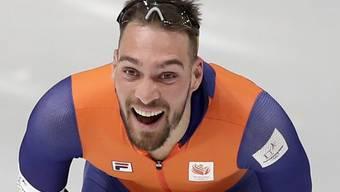 Kjeld Nuis freut sich über sein zweites Gold an den Winterspielen in Pyeongchang