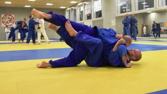 Hohe Trainingsintensität und Trainingsqualität - Konzentriert gehen die Judoka zur Sache