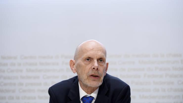 Daniel Koch, Leiter Abteilung übertragbare Krankheiten im Bundesamt für Gesundheit, mahnt zur die Bevölkerung in Bezug aufs Corona-Virus zur Ruhe.
