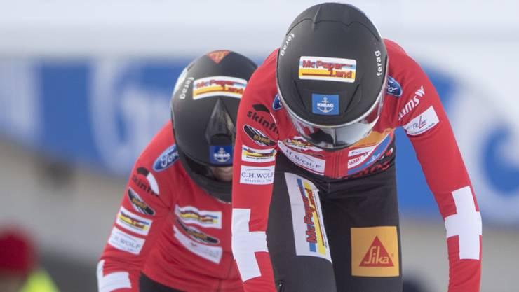 Am Start und in der Bahn schnell: Martina Fontanive und Anschieberin Irina Strebel