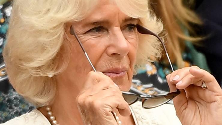 Herzogin Camilla hatte zu ihrem 72. Geburtstag ein Treffen der besonderen Art. Sie machte Bekanntschaft mit zwei Eseln, die wie ihre Stiefsöhne heissen: Harry und William. (Archivbild)