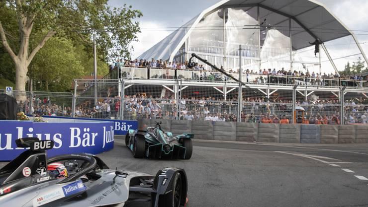 Die Plattform beim Bärengraben, die für das Formel-E-Rennen vom Juni erstellt wurde.
