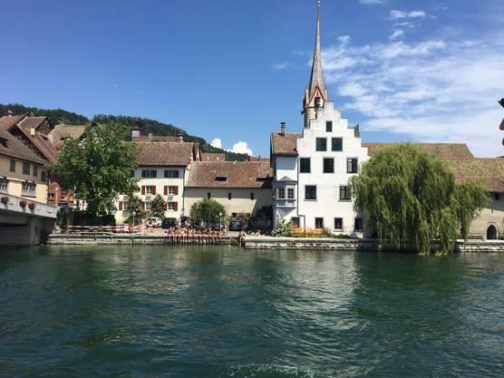 Gemeinsames Fussbad in Stein am Rhein