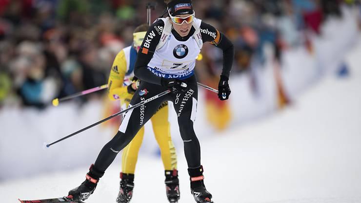 Selina Gasparin lief in Ruhpolding zum dritten Mal in dieser Saison in die Top 10
