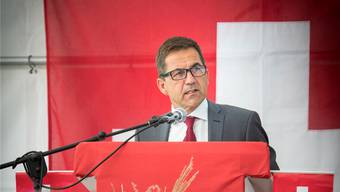 Bundeskanzler Walter Thurnherr in Diepoldsau SG.