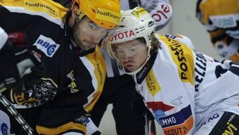 Luganos Josh Hennessy (l.) mit Steve Kellenberger beim Bully