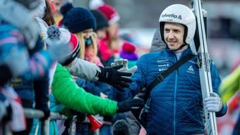 Simon Ammann ist nach wie vor der Liebling der Engelberger Skisprung-Fans.