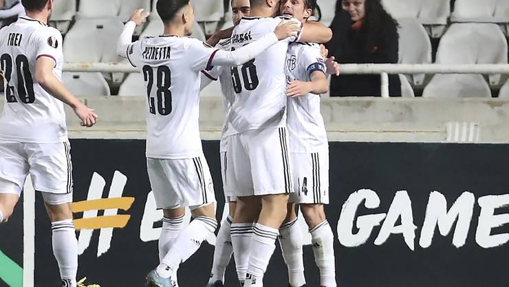 Weg mit dem Meisterschaftsfrust: Der FC Basel feiert in der Europa League auswärts auf Zypern eine Gala