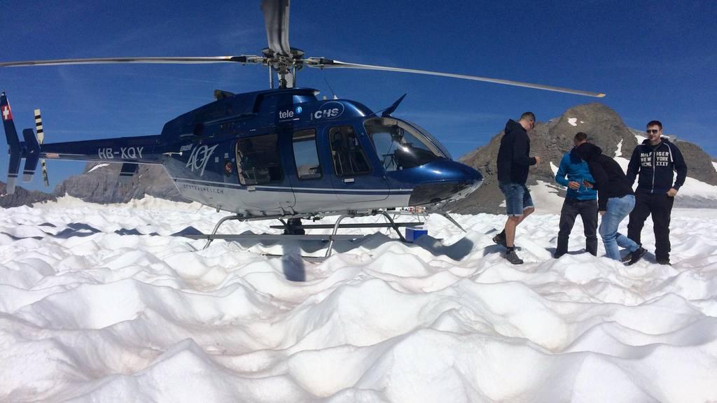 Gletscher-Zmittag: Sheila aus Luzern fliegt ins Eis