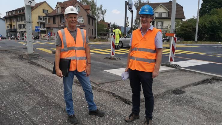 Daniel Fischer (l.) und Michael Wagner sind froh, dass das befürchtete Stauchaos grösstenteils ausgeblieben ist.