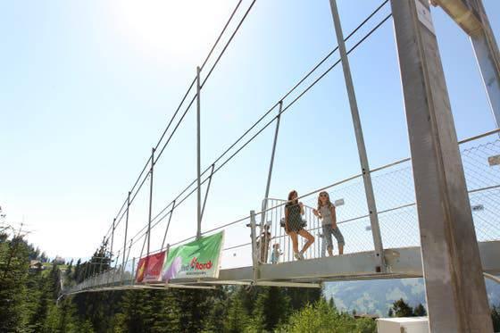 Skywalk in Sattel-Hochstuckli – Länge: 374 Meter Höhe: 58 Meter Eröffnung: 2010