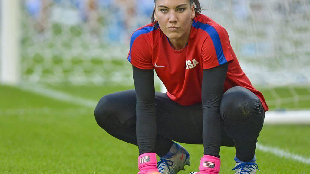 Wurde für ihre  Äusserungen gegenüber den Schwedinnen nach dem Viertelfinal-Aus für sechs Monate suspendiert: Hope Solo