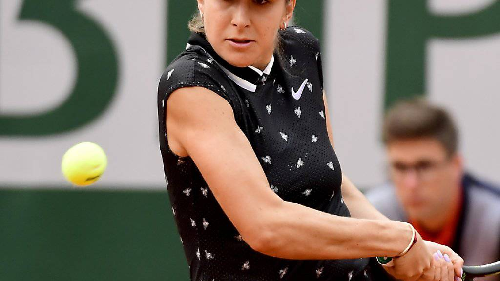 Belinda Bencic stand am Donnerstag nur noch wenige Minuten auf dem Platz