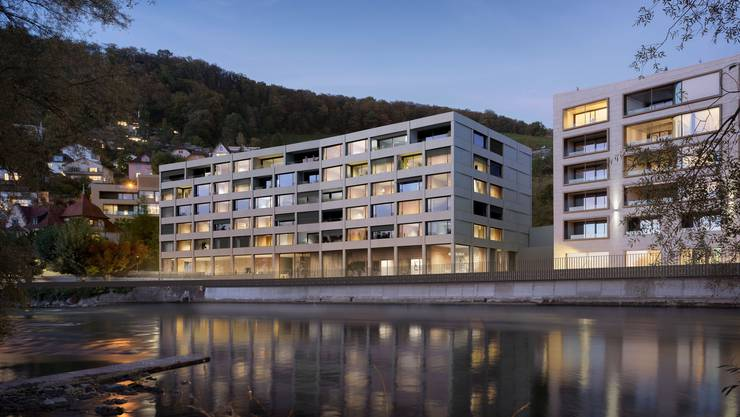 So soll das neue Alters- und Pflegeheim National an der Badstrasse aussehen. Hier soll es 64 Zimmer und 17 Alterswohnungen geben.