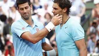 Der bisher letzte Grand-Slam-Final zwischen Novak Djokovic (li.) und Rafael Nadal: Am French Open 2014 setzte sich der Spanier durch