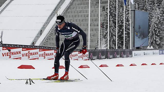 Dario Cologna: voller Einsatz am Holmenkollen.
