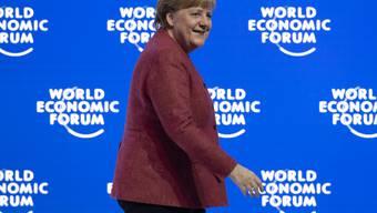 Auffällig unauffällig: Deutschlands Kanzlerin Angela Merkel - hier am diesjährigen World Economic Forum WEF in Davos - wird für ihre Garderobe ständig kritisiert.