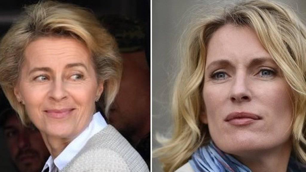 Maria Furtwängler (r) will in einer TV-Miniserie Verteidigungsministerin Ursula von der Leyen (l) spielen. (Archivbilder)