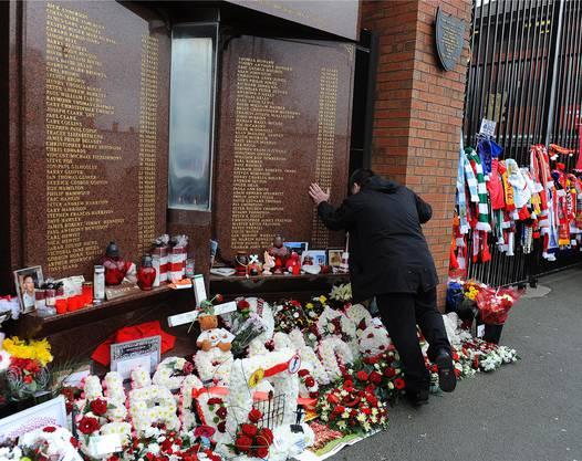 Das Hillsborough-Memorial in Liverpool