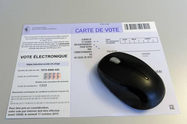 E-Voting bei den Wahlen 2015.