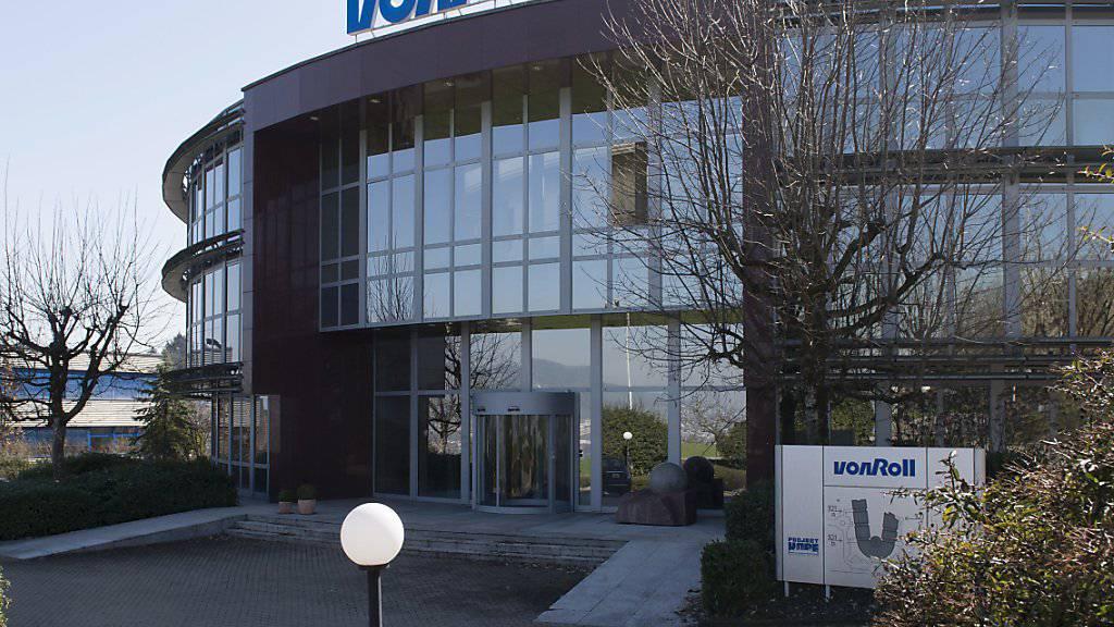 Der Von Roll-Hauptsitz in Wädenswil ZH hat bald ausgedient. Der Industriekonzern verlegt die Hauptverwaltung im Juli nach Breitenbach SO.
