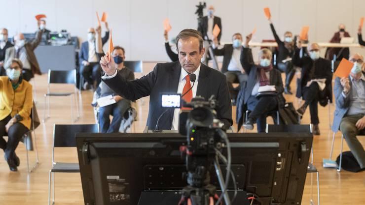CVP-Schweiz-Präsident Gerhard Pfister konnte an der DV vor einer Woche 85% der Delegierten vom Namenswechsel überzeugen.