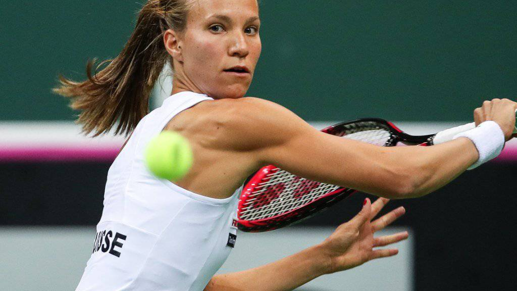 Viktorija Golubic musste sich im ersten Einzel Petra Kvitova geschlagen geben