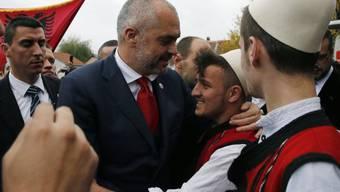 Der albanische Regierungschef Rama im südserbischen Presevo