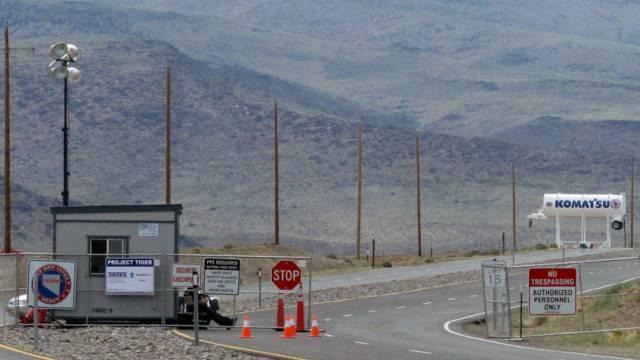 Zugang zum Gelände, auf dem die Tesla-Fabrik stehen soll (Archiv)