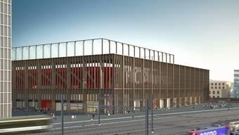 Visualisierung: So soll das Aarauer Fussballstadion aussehen