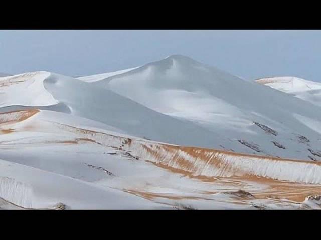 Schnee in der heissesten Wüste der Welt: Die Nord-Sahara in Algerien war für wenige Stunden weiss.