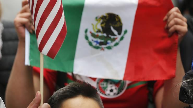 Protestmarsch mit mexikanischer Flagge in Chicago gegen die Immigrationspolitik der Regierung Trump (Aufnahme vom 16. Februar dieses Jahres).