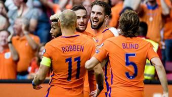 Die Holländer jubeln zwar - sind aber weiter weit von einer WM-Qualifikation entfernt