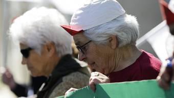 Die Demonstranten in Lissabon sind unzufrieden mit den Sparmassnahmen