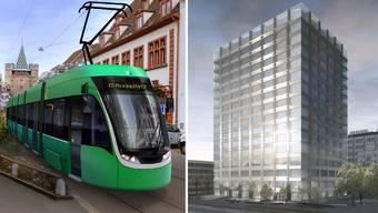 Flexity-Trams und neues Biozentrum für die Uni: Grossinvestitionen überschneiden sich in den kommenden vier Jahren.
