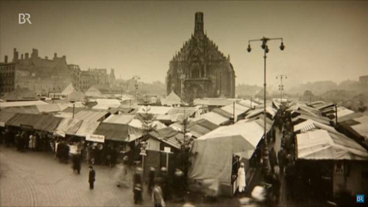 Und 1948, als er zum ersten Mal wieder in einer zerstörten Stadt stattfand. (Bildquelle: youtube/ bayrischer rundfunk)