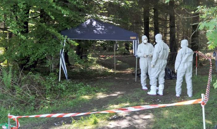Die Leiche von Maria Bögerl wurde knapp drei Wochen nach der Entführung in einem Wald gefunden.