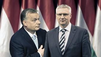 Zwei, die das Heu auf der gleichen Bühne haben: Ungarns Ministerpräsident Viktor Orbán und SVP-Nationalrat Andreas Glarner.