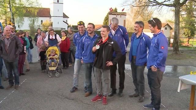 Fürstlicher Dorf-Empfang für Aargauer EM-Held