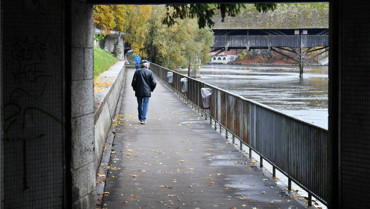 Geht es nach dem Willen des Oltner Stadtrats, soll der rund zwei Meter breite Ländiweg auch künftig nicht mit Videokameras überwacht werden.