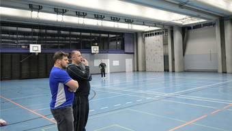 Für Markus Blättler (links) und Veton Polozani ist der Aufsteig kein Ziel.