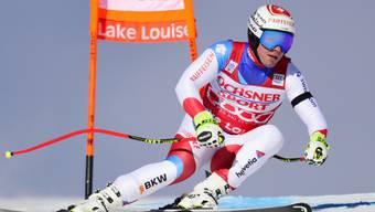 Beat Feuz verliert in der Abfahrt von Lake Louise 0,67 Sekunden auf den österreichischen Sieger Max Franz
