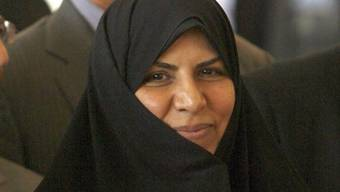 Die entlassene Gesundheitsministerin Marsieh Wahid-Dastdscherdi (Archiv)