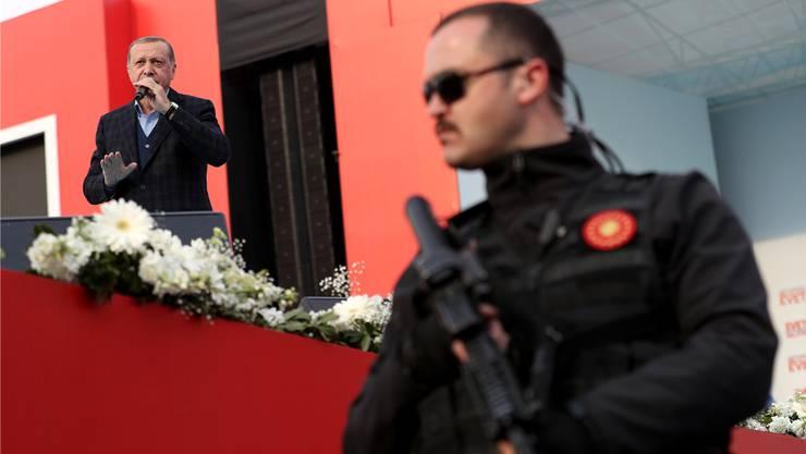 Präsident Erdogan hat in der Türkei fast alle Richter ausgewechselt, die Justiz ist nicht mehr unabhängig.Keystone